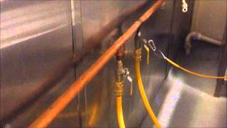 Commercial Gas Cooker - Complete Demonstration of Pipework - 01922 646 111
