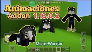 Nuevas Animaciónes  Addon para Minecraft 1.13.0.1 1.13.0.2