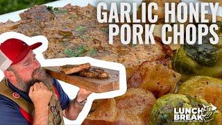 Lunch Break Episode 60 Jody's Garlic Honey Pork Chops | REC TEC Grills