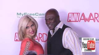 Lexington Steele and Savana Styles at the 2017 AVN Awards Nomination Party at Avalon Nightclub in Ho