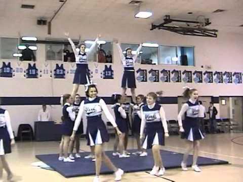 Christian School of York Pennsylvania cheerleading squad 2009 Senior Night