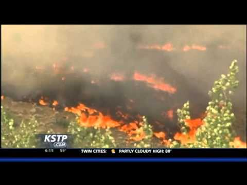 Fire Tornado in Utah Wildfire