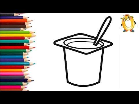 Раскраска для детей ЙОГУРТ. Мультик - Раскраска. Учим цвета II ОБУЧАШКА ТВ