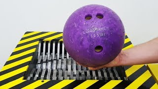 EXPERIMENT WHAT HAPPENS IF YOU DROP BOWLING BALL INTO THE SHREDDING MACHINE?!