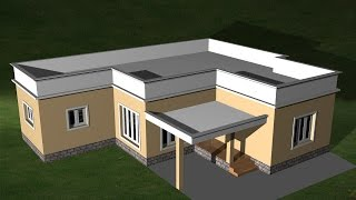 AUTOCAD 3D HOUSE -  CREATING FLAT ROOF | AUTOCAD FLAT ROOF