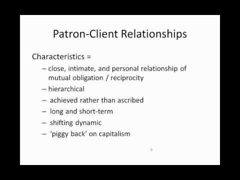 Patron-Client: 25 Concepts in Anthropology