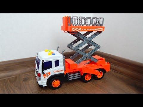City Service машинка подъемник Обзор игрушек машинок Видео для детей про машинки игрушки