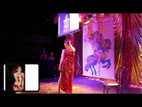 Rachel Rouge performs her swansong at Carousel Cabaret Burlesque *contains nudity*