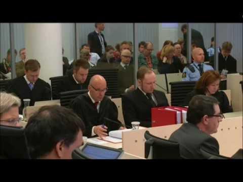 22/7 Rettsaken:Anders Behring Breivik ankommer retten dag 3