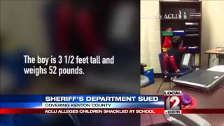 Parents sue officer who handcuffed kids with special needs