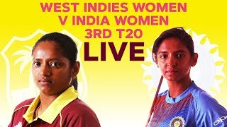 🔴LIVE West Indies Women vs India Women | 3rd T20I 2019