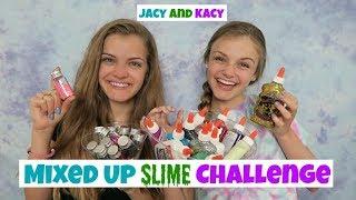 Mixed Up Slime Challenge ~ Jacy and Kacy