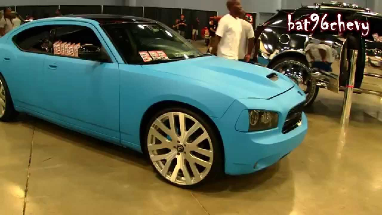 Matte Blue Wrapped Dodge Charger On 24 Quot Forgiatos 1080p