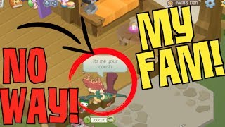MEETING MY FAMILY ON ANIMAL JAM!