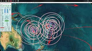 12/10/2018 -- Large M7.2 (M7.1) Earthquake strikes South Sandwich Islands - FORECAST AREA DIRECT HIT