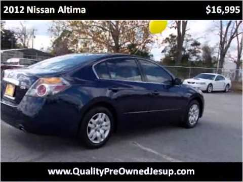 2012 Nissan Altima Used Cars Jesup GA