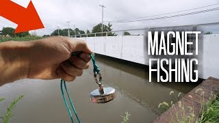 Magnet Fishing a Popular Fishing Bridge!! (Treasure Hunting)