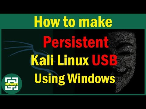 [100%] [ Using Windows ] How to make a bootable Kali Linux USB with persistence