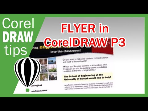 Part 3 flyer tutorial in CorelDraw X3