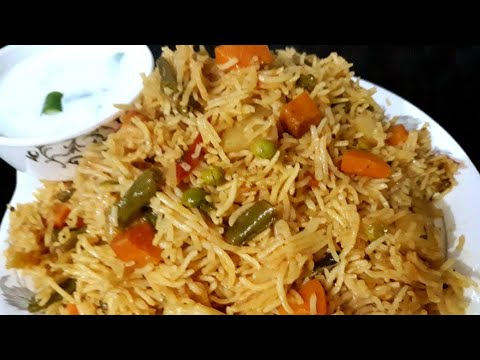 Veg pulao hyderabadi recipe easy and tasty