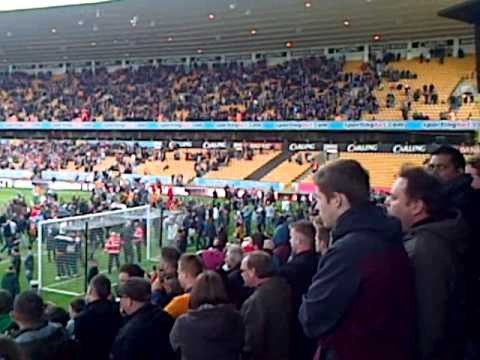 Wolves pitch invasion after Burnley defeat 27/04/2013