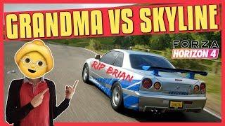 Forza Horizon 4 | Fighting a Grandma in Brian's Skyline R34 (A Class)