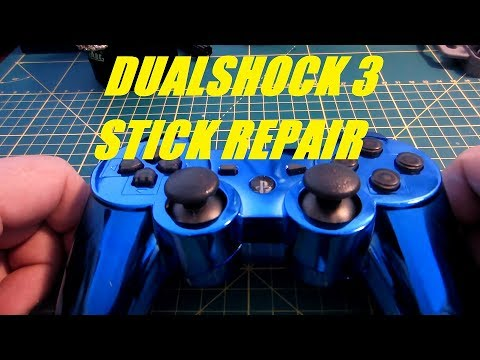 PS3 Dual Shock 3 controller analogue stick repair and shell refurb