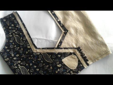 trendy fashion blouse design for cotton saree