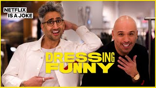 Jo Koy Bets Tan France $20 That He Can't Wear Stripes | Dressing Funny | Netflix Is A Joke