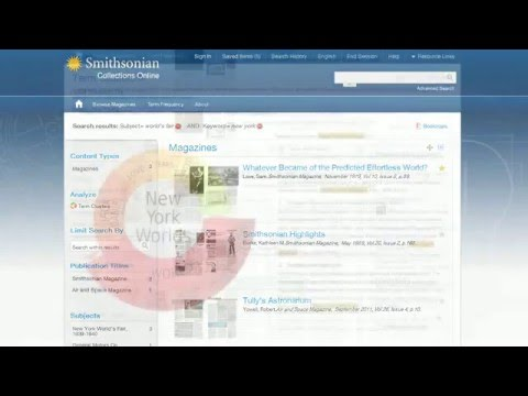 Database Construction of Smithsonian Collection