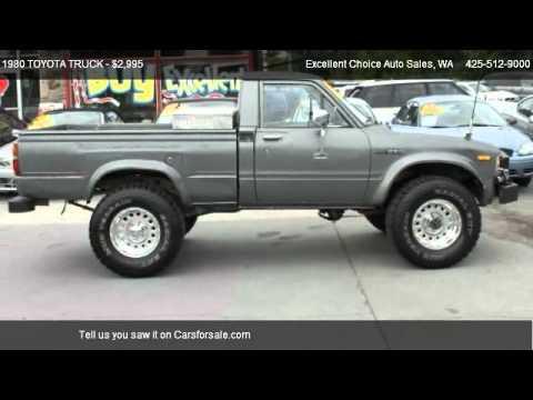 1980 Toyota Truck 4x4 For Sale In Everett Wa 98204