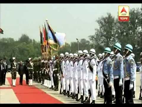 president pranab mukherjee arrives in dhaka