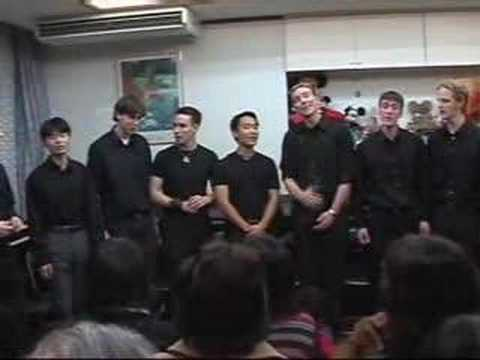"""Time After Time"" A Cappella アカペラ Wesleyan Spirits Japan Trip (8/16)"