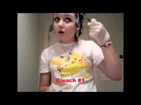 Dying Hair Black and Bleaching Hair From Black to Blond (Black and