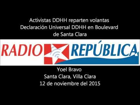 Activistas DDHH lanzan volantas en Boulevard de Sta. Clara, Cuba