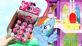 Hidden Surprise Eggs ! Toys and Dolls Fun for Kids with My Little Pony Canterlot Castle