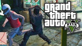 GTA 5 BOUNTY HUNTERS #38 - INTERRUPTING A ROBBERY! (GTA V Online)