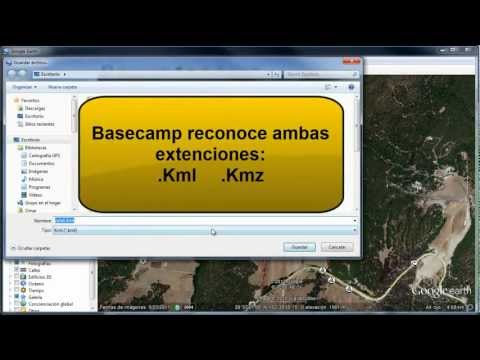 como trazar rutas o tracks en google earth para pasarlas al GPS Garmin usando basecamp