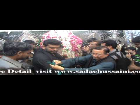 Syed Jafar Hussain (editor Sada-e-hussaini Daily) Paid His Respect At Alawa Bibi For Ziyarat video