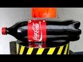 EXPERIMENT Glowing 1000 degree HYDRAULIC PRESS 100 TON vs COCA COLA