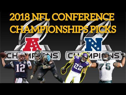 NFL 2018 Conference Championships Picks Podcast - Jaguars vs Patriots, Vikings vs Eagles