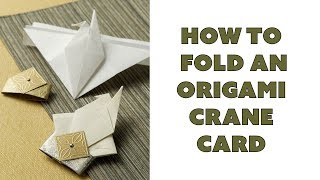 Origami Crane Card