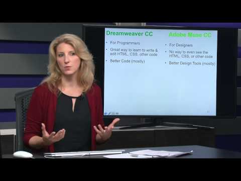 Janine Warner: The Difference Between Adobe Dreamweaver and Muse