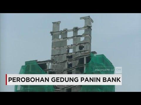 Gedung Panin Bank Mulai Runtuh oleh Angin Kencang & Beban