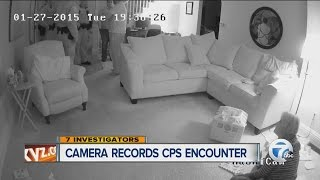 Camera records CPS encounter