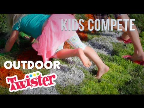OUTDOOR TWISTER | Kids Compete!
