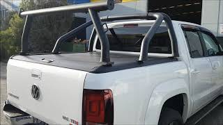 2018 AMAROK V6 Fitted with ROLLASHUTTER, Factory Sports Bar and Ladder Rack