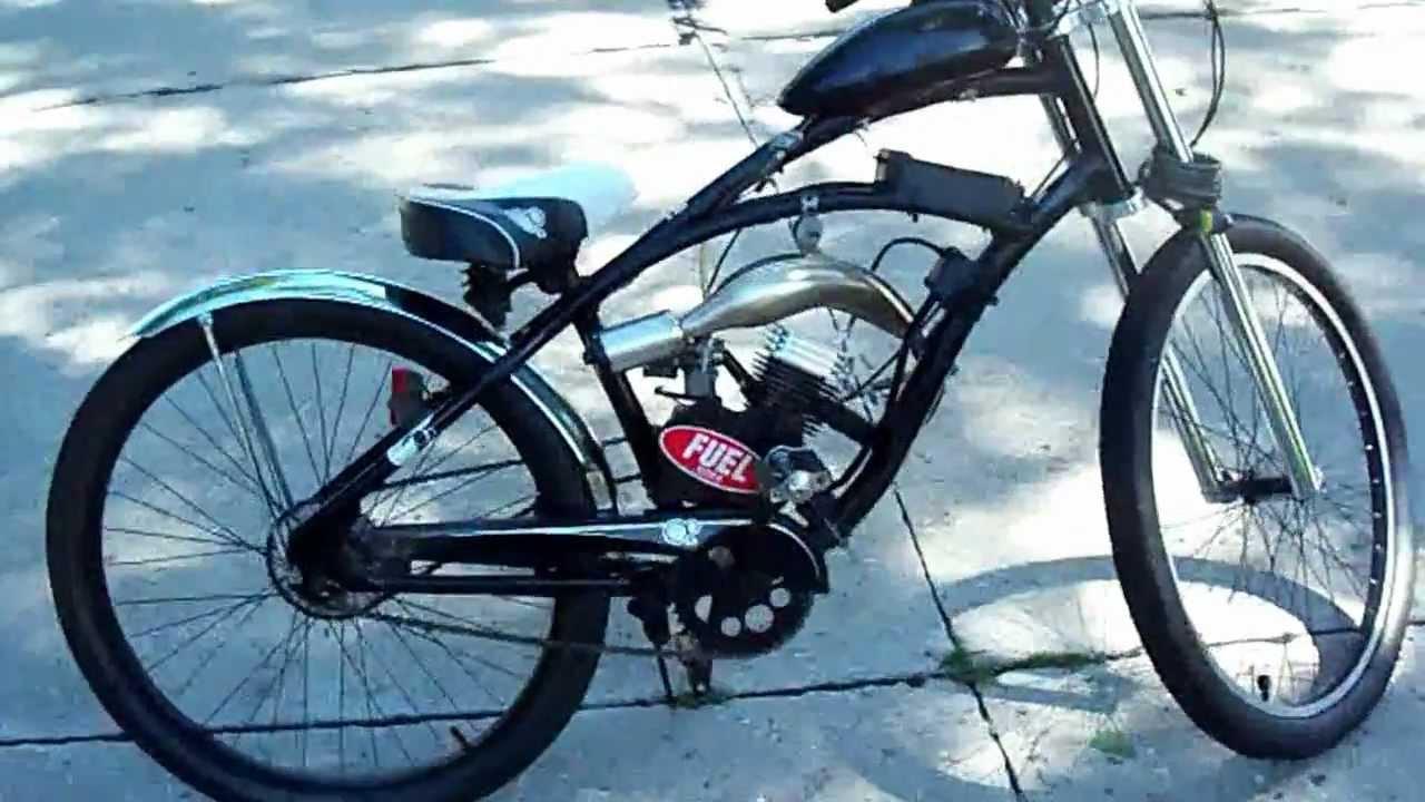 Motorized Bike Bicycle 80cc Fast Custom Youtube