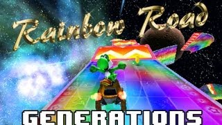 Mario Kart Rainbow Road (1992 to 2011) Generations