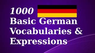 1000 Basic German Vocab & Expressions
